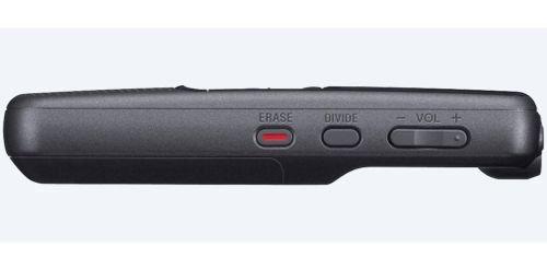 مسجل صوت سوني ICD، شاشة LCD، تخزين 4GB، أسود