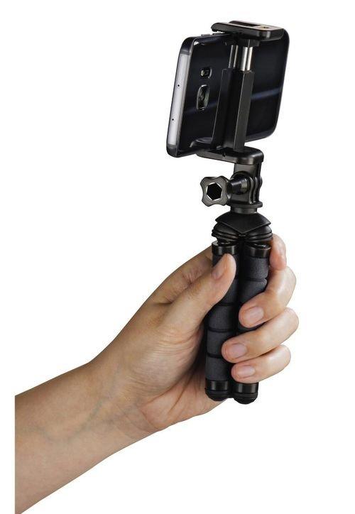 ستاند كاميرا Hama Flex، ألمنيوم، ارتفاع حتى 14 سم، أسود