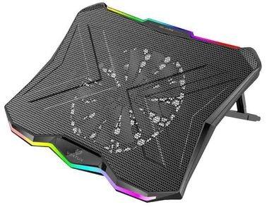 منصة تبريد لابتوب Vertux Glare، أضواء LED، مروحة واحدة 175 ملم