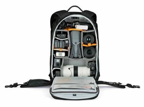 حقيبة كاميرا ظهر Lowepro، سعة 25 لتر، لون أسود