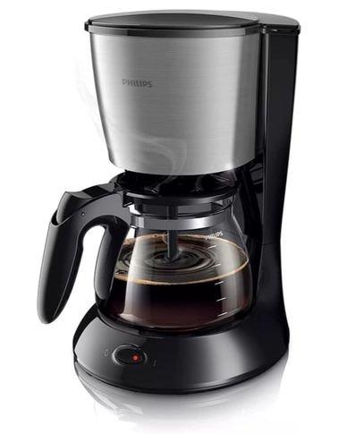 ماكينة تحضير القهوة ديلي من فيلبس، 1.2 لتر، أسود