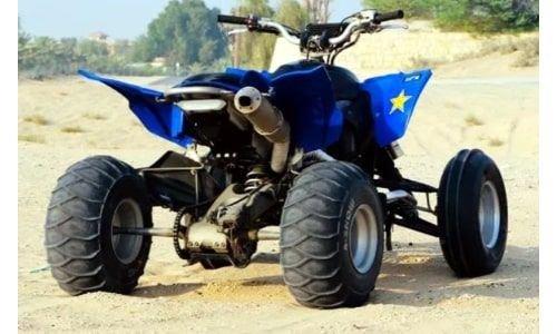 دباب يامها 2010 YFZ450R مستعمل، خمسة صمامات 499 سي سي، أزرق