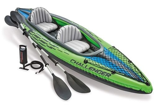 Intex Challenger Kayak 2 Set Inflatable Air Boat, with Oars, for 2 Persons