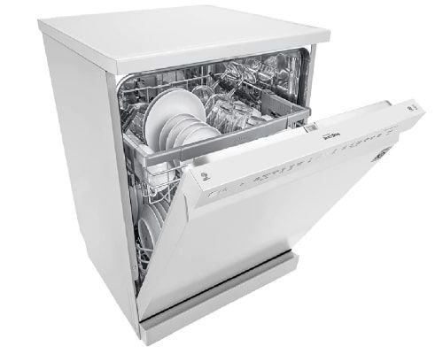 جلاية صحون ال جي، 9 برامج، 14 مكان، محرك عاكس مباشر، لون أبيض