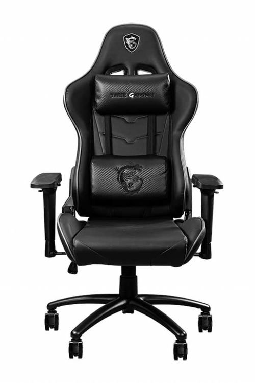 كرسي ألعاب أم إس آي CH120I، جلد PVC، قابلة للتعديل، أسود ورمادي
