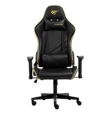 كرسي ألعاب هافيت GC930، قابلة للتعديل، أسود وأصفر