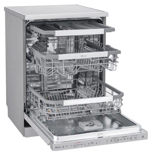 جلاية صحون ال جي، 10 برامج، 14 مكان، محرك عاكس مباشر، غسل رباعي، لون فضي