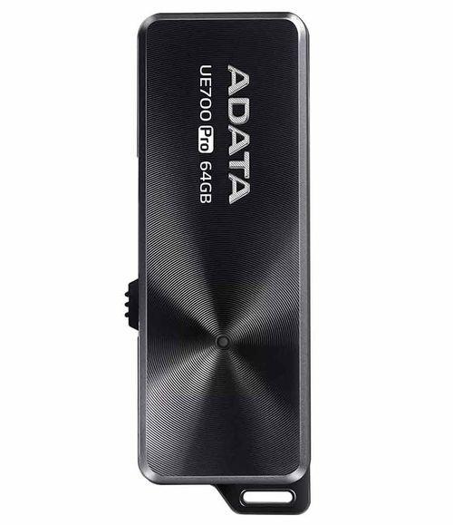 فلاش ميموري ADATA UE700 Pro، سعة 64GB، يو إس بي 3، لون أسود