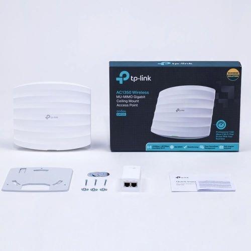 أكسيس بوينت تي بي لينك EAP225، سرعة 1Gbps، ثلاث هوائيات، أبيض