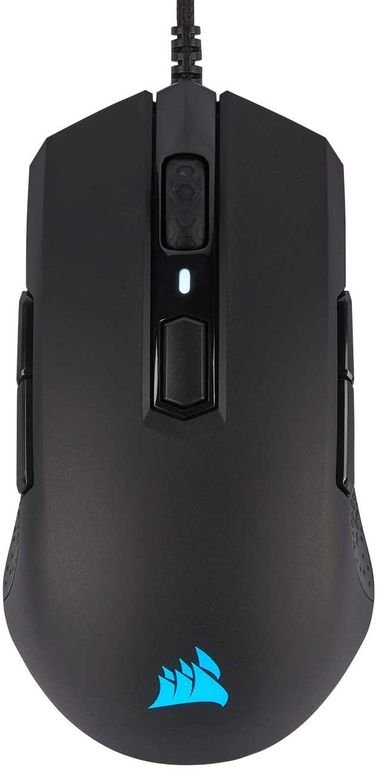 Corsair M55 Mouse, Wired, RGB Lights, Black Color