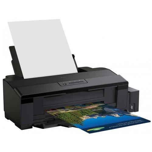 طابعة صور إيبسون L1800، نافثة للحبر، ست ألوان، أوراق A3+، لون أسود