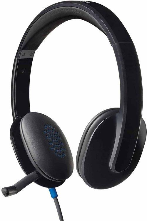 سماعة رأس لوجيتك H540، سلكية، توصيل USB، لون أسود