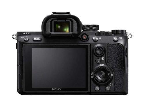 كاميرا سوني Alpha 7 III، دقة 24.2MP، تصوير 4K، لون أسود