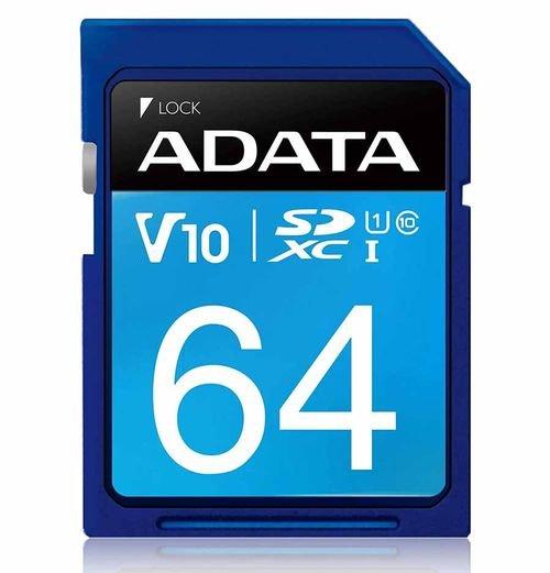 كرت ذاكرة ADATA بريمير، قياس SD، سعة 64GB، سرعة 100 ميجابايت