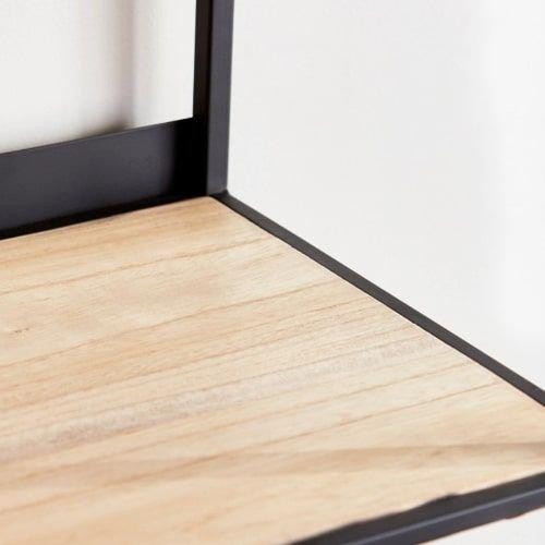 خزانة كتب خشبية من آرو، أسود