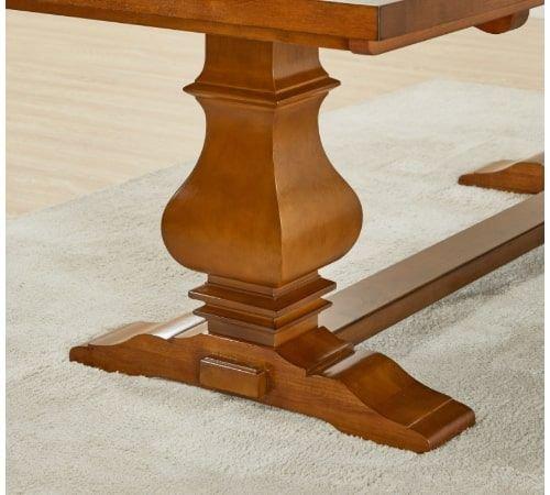 طاولة سفرة بسطح خشبي من فيكتور، سعة 8 كراسي، بني