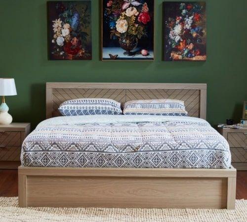 سرير كينج من فانس، 180x200 سم، لون بني