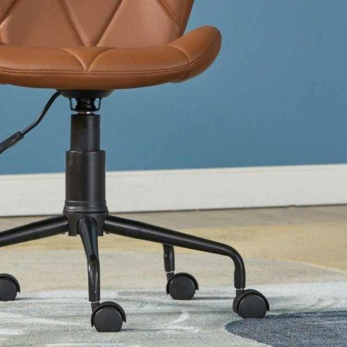 كرسي مكتب للأطفال من لوجان، هيكل معدني، لون بني