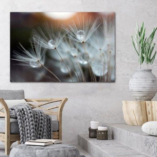 لوحة حائط كانفاس من فيرست لايت، 60 × 90 سم أل إي دي، أبيض