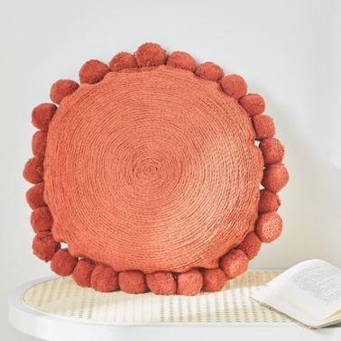 وسادة محشوة للزينة من كيتو، لون ترابي