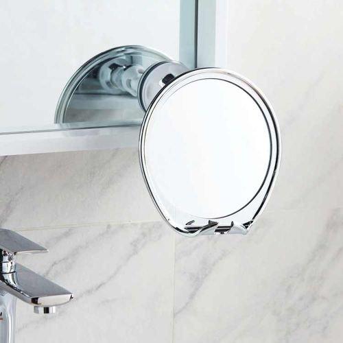 مرآة حمام من فوجليس، إطار معدن، قطر 17 سم، لون فضي