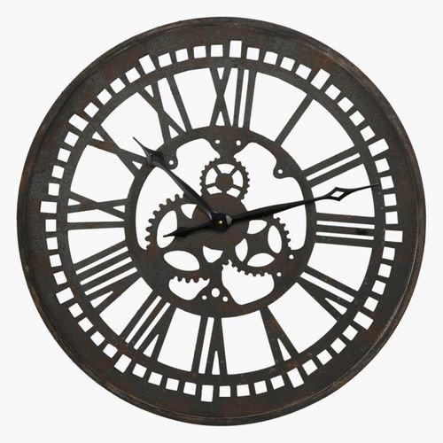 ساعة حائط مستديرة من بادوا، لون بني