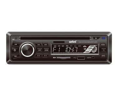 مسجلة سيارة من سانفورد، مشغل CD وراديو، تشغيل عبر USB وبطاقة الذاكرة