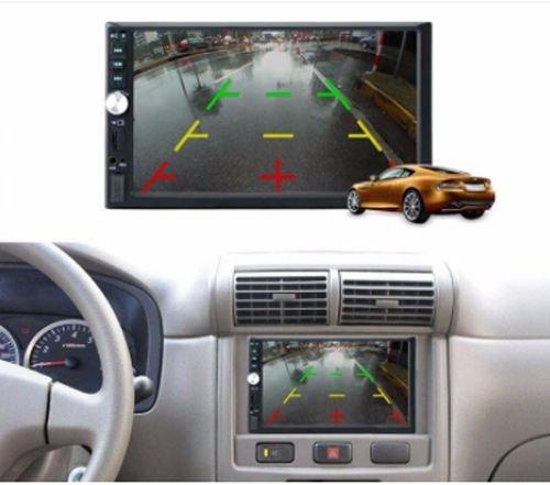 شاشة لمس للسيارة من AX، قياس 7 بوصة، بلوتوث وراديو، لون أسود