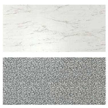 لوح حائط ثنائي الجانب من أيكيا، نقش فسيفساء، لون أبيض أسود
