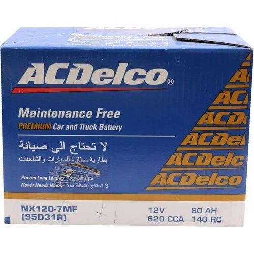 بطارية سيارة من ACDelco، سعة 80 أمبير، 12 فولت، مغلقة، لون أسود