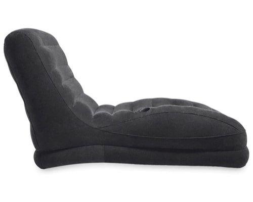 كرسي استرخاء قابل للنفخ من انتكس، أسود