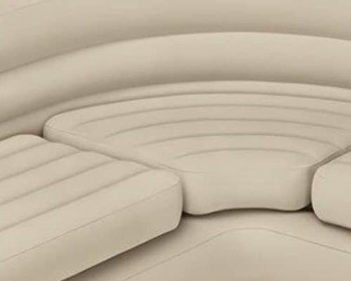 أريكة زاوية قابلة للنفخ من انتكس، بيج