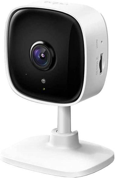كاميرا ذكية تي بي لينك Tapo C100، رؤية ليلية، دقة 1080p، وايفاي، لون أبيض
