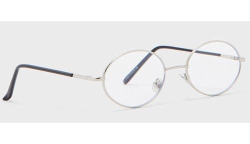 نظارة سفنتي فايف للقراءة، شفافة، فلتر الضوء الأزرق، إطار فضي