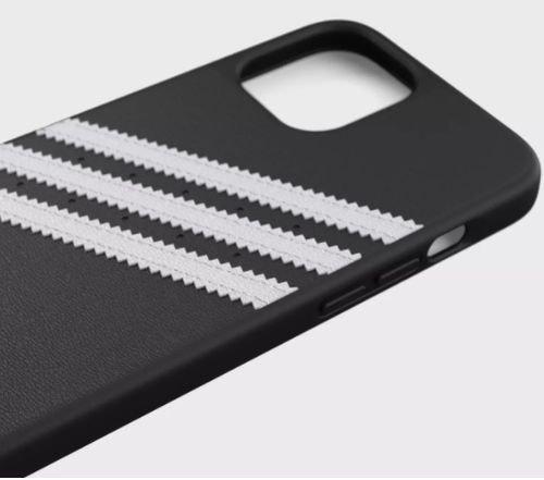 غطاء حماية أديداس لهاتف ايفون 12 ميني، لون اسود