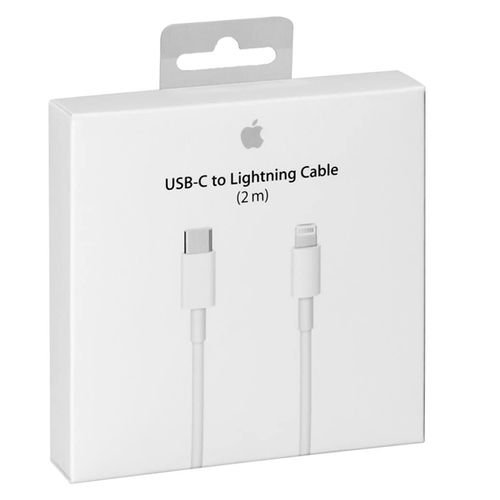 كبل شحن آبل، توصيل USB-C إلى Lightning، لون أبيض، 2 متر