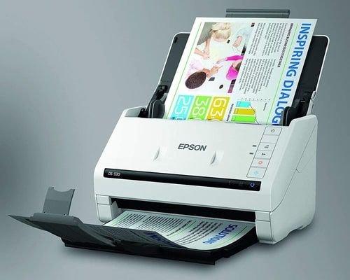 سكنر ضوئي من إبسون ملونة، نظام تغذية الورق، لون أبيض