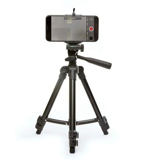 حامل كاميرا ثلاثي من Kikkerland، ارتفاع 72 سم، لون رمادي