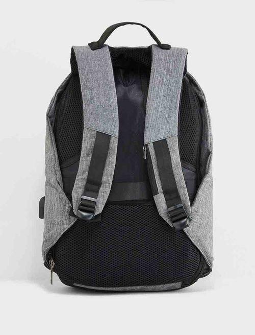 حقيبة لابتوب ظهر من سيفنتي فايف، قماش، رمادي وأسود