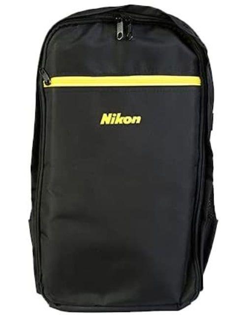 Nikon Camera Backpack, Polyester, Black Yellow