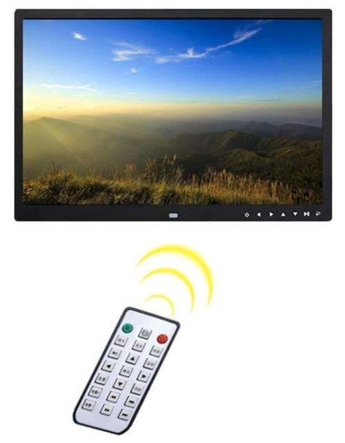 إطار الصورة الرقمي من YHBZLG، فل اتش دي، 17 بوصة IPS، أبيض وأسود