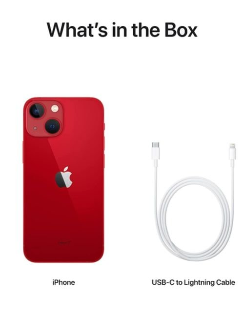 هاتف أبل آيفون 13 ميني، الجيل الخامس، 128 جيجابايت، أحمر