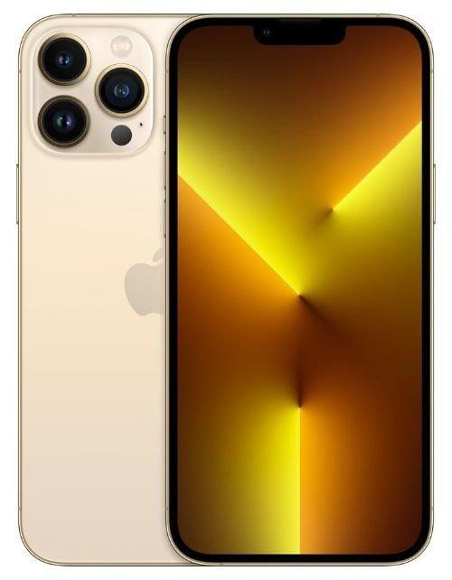 هاتف أبل آيفون 13 برو، الجيل الخامس، 256 جيجابايت، ذهبي