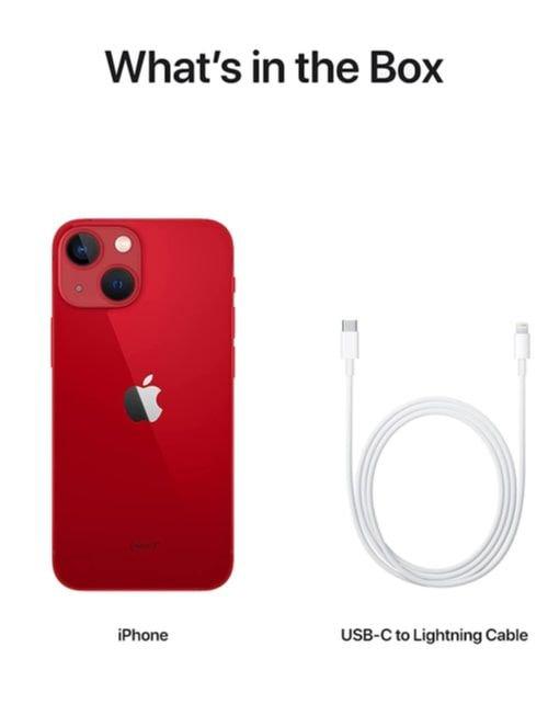 هاتف أبل آيفون 13 ميني، الجيل الخامس، 512 جيجابايت، أحمر