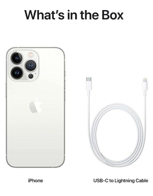 هاتف أبل آيفون 13 برو، الجيل الخامس، 256 جيجابايت، فضي